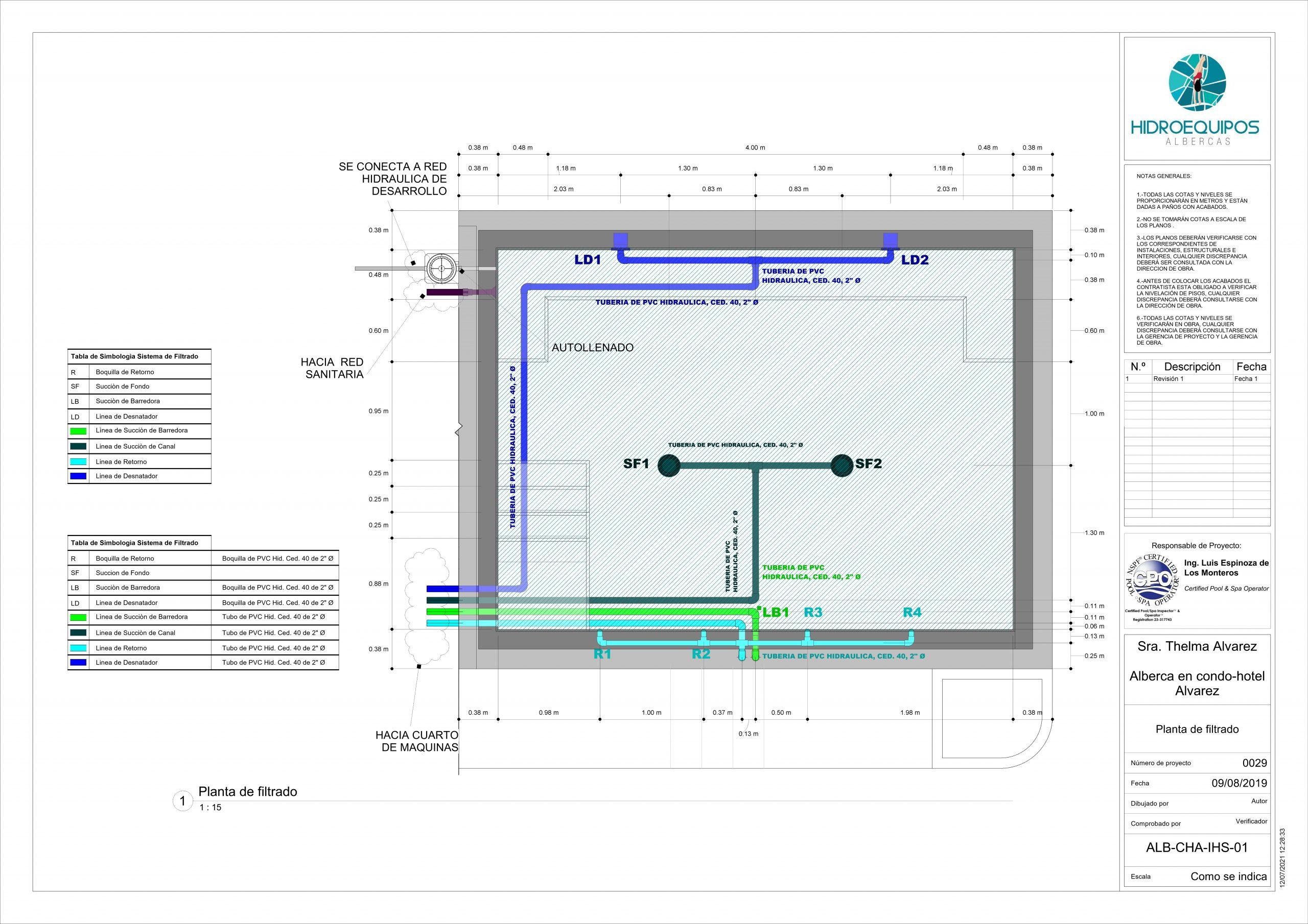 29 – Plano – ALB-CHA-IHS-01 – Planta de filtrado